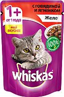 Корм для кошек Whiskas Желе с говядиной и ягненком (85г) -