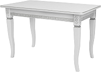 Обеденный стол Импэкс Leset Дакота 1Р 9003 (белый/патина серебро) -