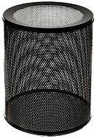 Корзина для бумаг Титан Мета 250 низкая (перфорированный черный) -