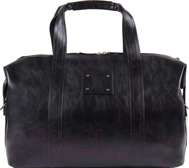 Купить Дорожная сумка BorZa, 712-01901 (черный), Беларусь, искусственная кожа
