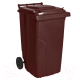 Контейнер для мусора Алеана 122064 (120л, темно-коричневый) -