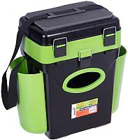 Ящик рыболовный Helios FishBox (10л, черный/зеленый) -