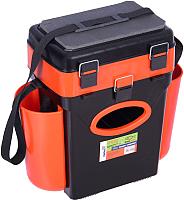 Ящик рыболовный Helios FishBox (10л, черный/оранжевый) -