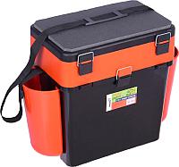 Ящик рыболовный Helios FishBox (19л, черный/оранжевый) -