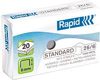 Скобы для степлера Rapid Standard 26/6 1M / 24861300 -