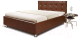 Полуторная кровать Мебель-Парк Софи 200x140 с подъемным механизмом (коричневый) -
