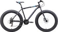 Велосипед STARK Fat 26.2 D 2019 (18, чёрный/голубой/серый) -