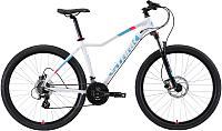 Велосипед STARK Viva 27.3 HD 2019 (18, белый/голубой/розовый) -