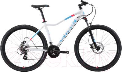 Велосипед STARK Viva 27.3 HD 2019 (18, белый/голубой/розовый)