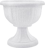 Вазон Алеана Леон 114003 (белый флок) -