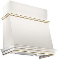 Вытяжка коробчатая Elikor Баривьера 60П-650-П3Д (бежевый/дуб белый/патина золотая) -