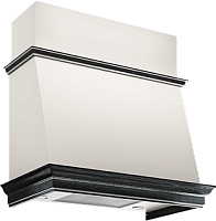 Вытяжка коробчатая Elikor Баривьера 60П-650-П3Д (бежевый/дуб черный/патина серебро) -