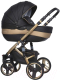 Детская универсальная коляска Riko Brano Ecco 2 в 1 (gold/black) -