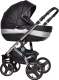 Детская универсальная коляска Riko Brano Ecco 2 в 1 (silver black) -