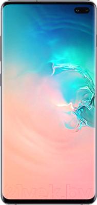 Смартфон Samsung Galaxy S10+ 128Gb / SM-G975FZWDSER (перламутр)