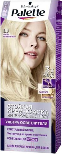 Купить Крем-краска для волос Palette, Стойкая L0 (ультра осветлители интенсивный цвет), Россия, блонд