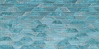 Декоративная плитка Нефрит-Керамика Арагон Трапеция / 04-01-1-18-03-71-1239-0 (600x300, бирюзовый) -