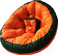 Бескаркасное кресло-трансформер Angellini 9с0011тр (S, зеленый/оранжевый) -