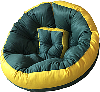 Бескаркасное кресло-трансформер Angellini 9с0011тр (S, желтый/зеленый) -