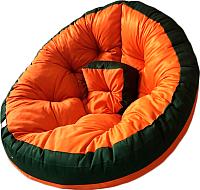 Бескаркасное кресло-трансформер Angellini 9с0012тр (M, зеленый/оранжевый) -