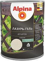 Защитно-декоративный состав Alpina Лазурь-гель (750мл, белый) -