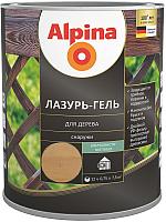 Защитно-декоративный состав Alpina Лазурь-гель (750мл, кедр) -