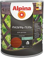 Защитно-декоративный состав Alpina Лазурь-гель (750мл, махагон) -