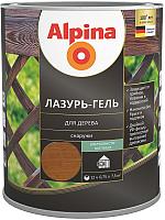 Защитно-декоративный состав Alpina Лазурь-гель (750мл, орех) -