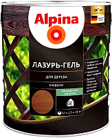 Защитно-декоративный состав Alpina Лазурь-гель (2.5л, рябина) -