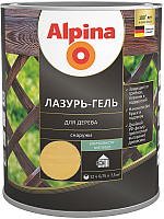 Защитно-декоративный состав Alpina Лазурь-гель (750мл, сосна) -