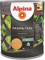 Защитно-декоративный состав Alpina Лазурь-гель (750мл, тик) -