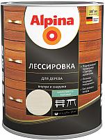 Защитно-декоративный состав Alpina Лессировка (2.5л, белый) -
