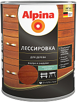 Защитно-декоративный состав Alpina Лессировка (750мл, махагон) -