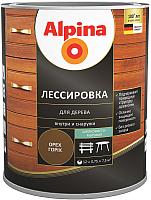 Защитно-декоративный состав Alpina Лессировка (750мл, орех) -