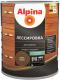 Защитно-декоративный состав Alpina Лессировка (2.5л, орех) -