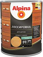 Защитно-декоративный состав Alpina Лессировка (2.5л, тик) -