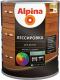 Защитно-декоративный состав Alpina Лессировка (750мл, черный) -