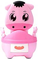 Детский горшок Pituso Теленок / FG331 (розовый) -