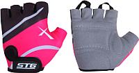 Перчатки велосипедные STG Х61872-М (M, черный/розовый) -