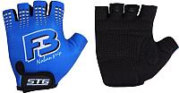 Перчатки велосипедные STG Х61886-Л (L, синий) -