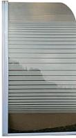Стеклянная шторка для ванны Coliseum 7038 75x140 (прозрачное стекло/полоска) -