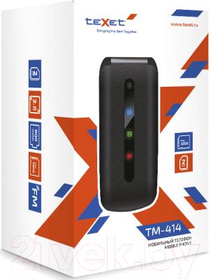 Мобильный телефон Texet TM-414 (красный)