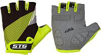 Перчатки велосипедные STG Х87911-Л (L, черный/салатовый) -