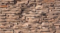 Декоративный камень РокСтоун Слоистый кварц 107П (коричневый) -