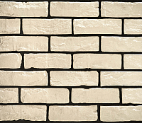 Декоративный камень РокСтоун Кирпич старинный 300П (белый) -