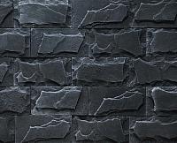 Декоративный камень РокСтоун Византия 1219П (черный пепел) -