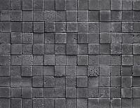 Декоративный камень РокСтоун Травертин мозаика 3D 1719П (черный пепел) -