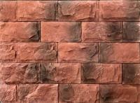 Декоративный камень РокСтоун Мрамор широкий 2505П (красный) -
