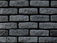 Декоративный камень РокСтоун Кирпич Венеция 2619П (черный пепел) -