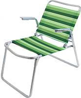 Кресло складное Ника К1 (зеленый/белый) -